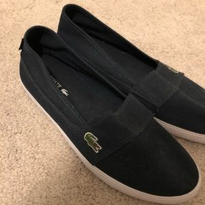 NWOT Authentic Lacoste Slip Ons